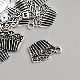 """Decor art metal """"Comb"""" silver 1,9kh1,4 cm"""