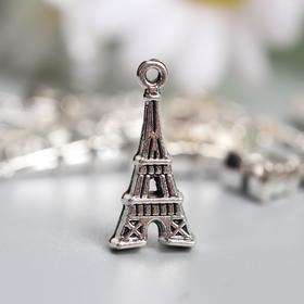 "Decor art metal ""Eiffel tower"" silver 2x0,9 cm"