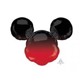 """Шар фольгированный 38"""" «Микки Маус», голова, цвет омбре"""