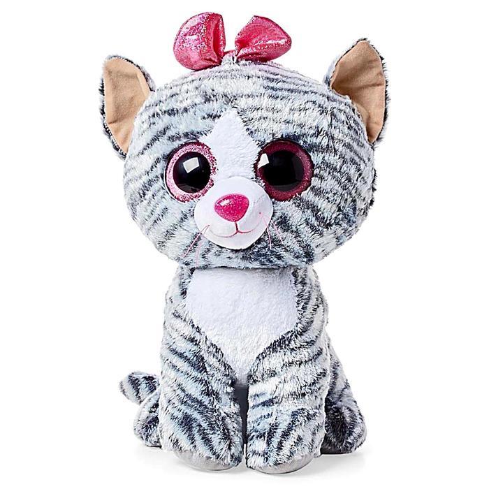 Мягкая игрушка «Кошка Kiki с бантиком», цвет серый, 40 см