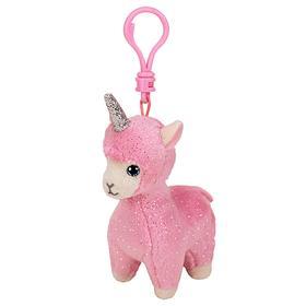 Мягкая игрушка-брелок «Лама Lana», с рогом, цвет розовый, 10 см