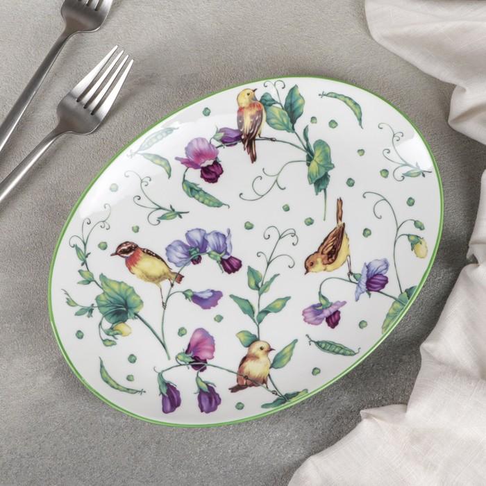 Блюдо для подачи Доляна «Зелёный сад», 25×18,5 см - фото 308151984