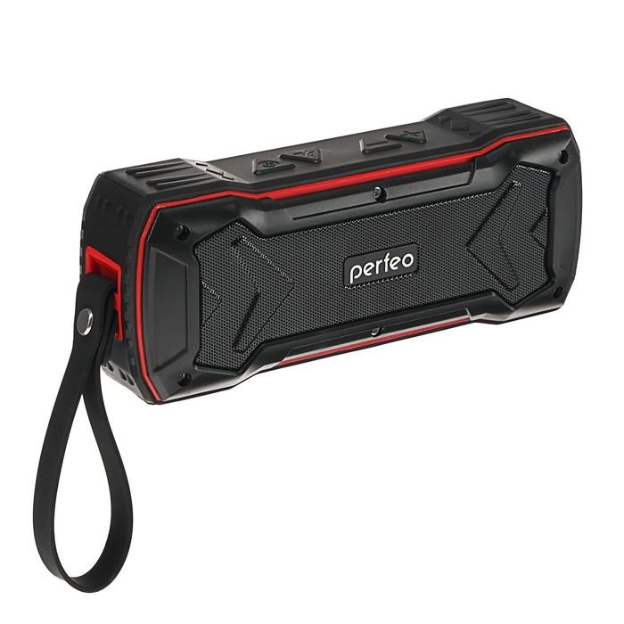 Портативная колонка Perfeo GRANDE, 10 Вт, 2600 мАч, FM, microSD, USB, AUX, черная
