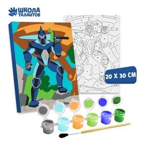 Картина по номерам «Стальной робот» 20×30 см