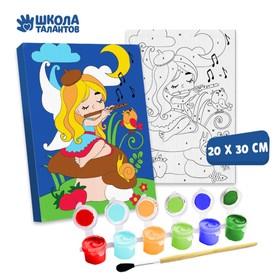 Картина по номерам «Фея с флейтой» 20×30 см