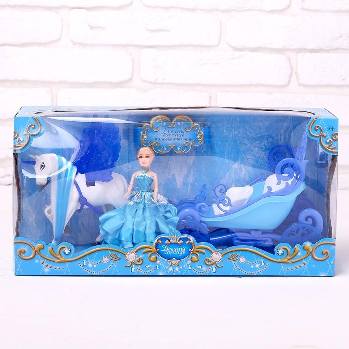 Карета для кукол «Сказка» с куклой, световые и звуковые эффекты