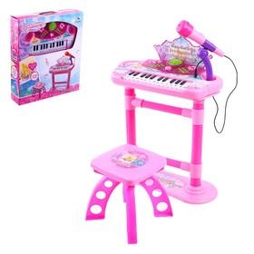 Напольный синтезатор «Маленький музыкант», со стульчиком, микрофоном