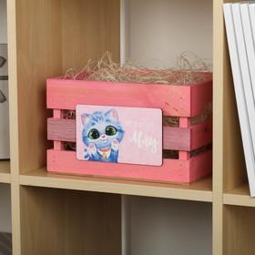 """Ящик для хранения """"Котик"""" 20х15х20 см"""