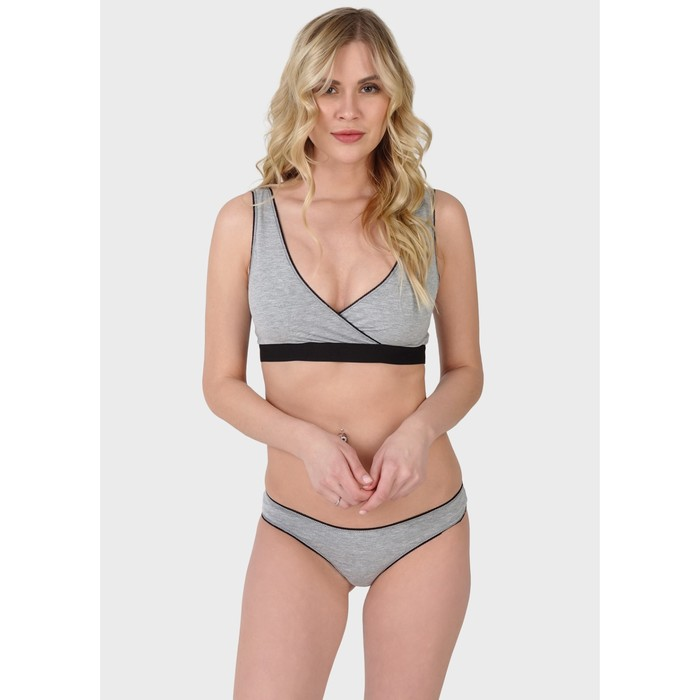 """Комплект белья """"Джудит"""" для беременных и кормящих, цвет серый, размер L"""