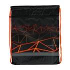 Мешок для обуви с карманом на молнии, 415 х 340 мм, светоотражающая полоса, «Оранжевый вектор»