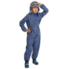 Карнавальный костюм «Лётчик с пистолетом», текстиль, детский, р. L, рост 134-140 см