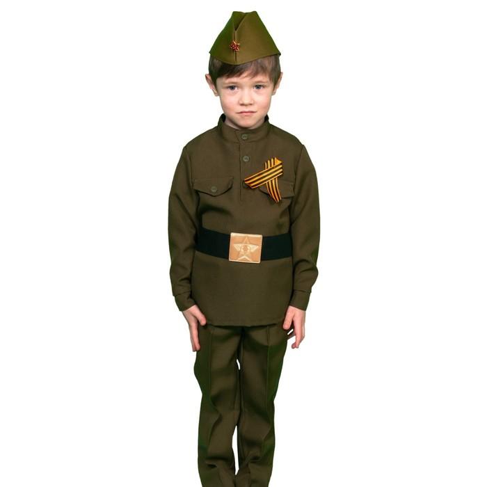 Карнавальный костюм «Солдатик в брюках», детский, р. 28-30, рост 92-110 см - фото 105522365