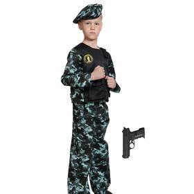 Карнавальный костюм «Спецназ-3 с пистолетом», детский, р. 34-36, рост 134-140 см
