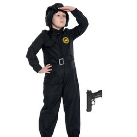 Карнавальный костюм «Танкист с пистолетом», детский, р. 30-32, рост 116-122 см