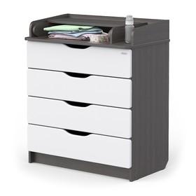Комод Сириус-2 Wood 804 ПВХ, древесина графит, 4 ящика