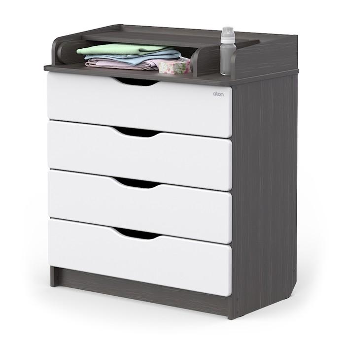 Комод Сириус-2 Wood 804 ПВХ, древесина графит, 4 ящика - фото 105560714