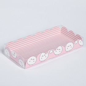 """Box for confectionery products with PVC-cover, """"You"""", 21 × 10,5 × 3 cm"""