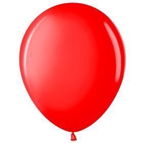 """Шар латексный 12"""", пастель, набор 100 шт., цвет красный"""