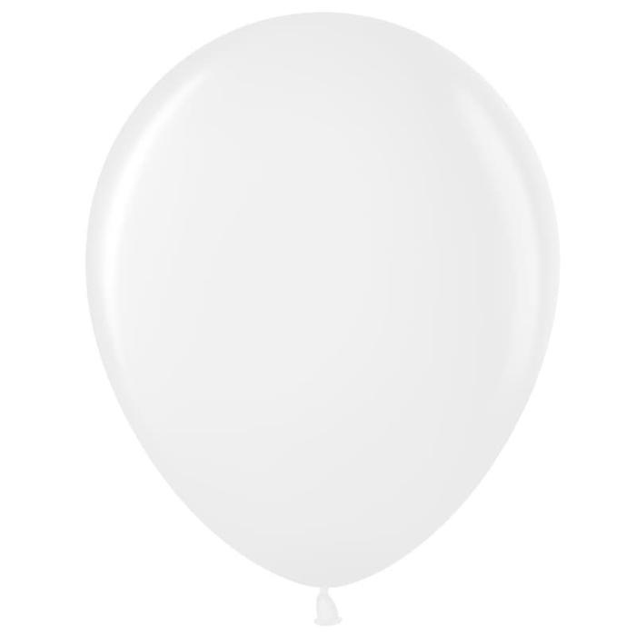 """Шар латексный 12"""", пастель, набор 100 шт., цвет белый - фото 953958"""