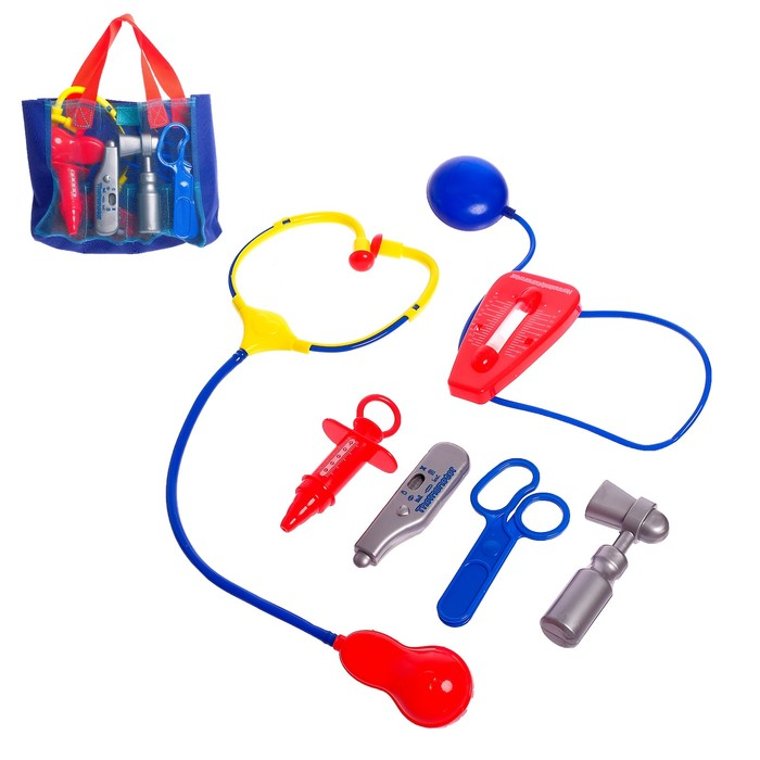 Игровой набор доктора «Айболит», в сумочке - фото 105582433