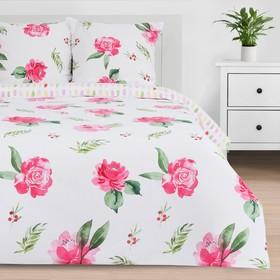Постельное бельё «Этель» дуэт Розовые пионы 143*215 см 2 шт,240*220 см,70*70 см 2 шт