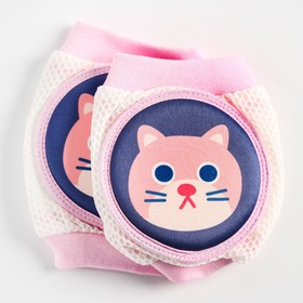 """A set of knee pads """"Kitty"""", pink"""