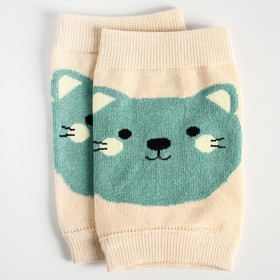 """A set of knee pads """"Kittens"""", 2 pieces, beige"""