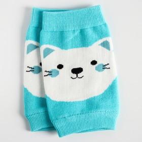"A set of knee pads ""Kittens"", 2 PCs, blue color"
