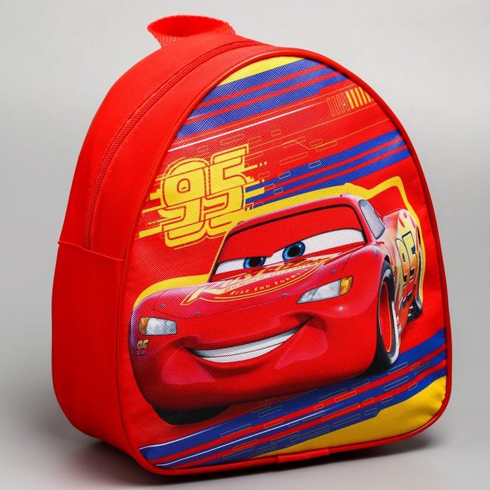 Рюкзак детский кожзам «95», Тачки, 21 х 25 см