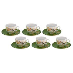 Набор чайный на 6 персон Paradise Bird, 12 предметов, чашка 250 мл, блюдце 15 см