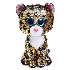 Мягкая игрушка «Леопард» Sterling, в пайетках, 25 см