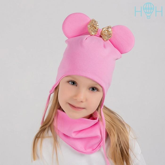 Шапка для девочки, цвет розовый, размер 50-54 - фото 106998764