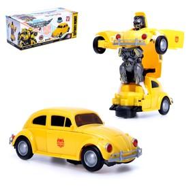 Робот-трансформер «Шмель», световые и звуковые эффекты, работает от батареек