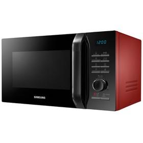Микроволновая печь Samsung MG23H3115QR, 800 Вт, 23 л, гриль, чёрно-красная