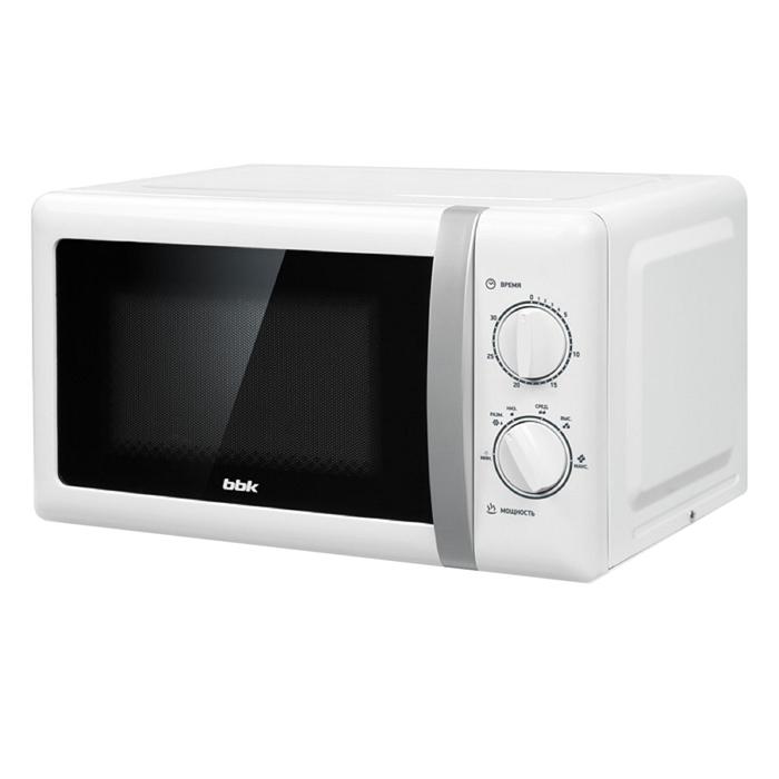 Микроволновая печь BBK 20MWS-804M/WS, 800 Вт, 20 л, 6 ступеней мощности, белая