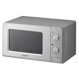 Микроволновая печь Daewoo KOR-7707S, 700 Вт, 20 л, 7 режимов, серебристая