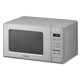 Микроволновая печь Daewoo KOR-770BS, 700 Вт, 20 л, 11 ступеней мощности, серебристая