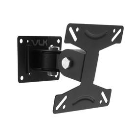 """Кронштейн VLK TRENTO-102, для ТВ, наклонно-поворотный, 15-32"""", 100 мм от стены, черный"""