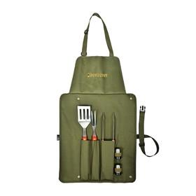 Набор BOYSCOUT: сумка-фартук, вилка, лопатка, щипцы, солонка, перечница