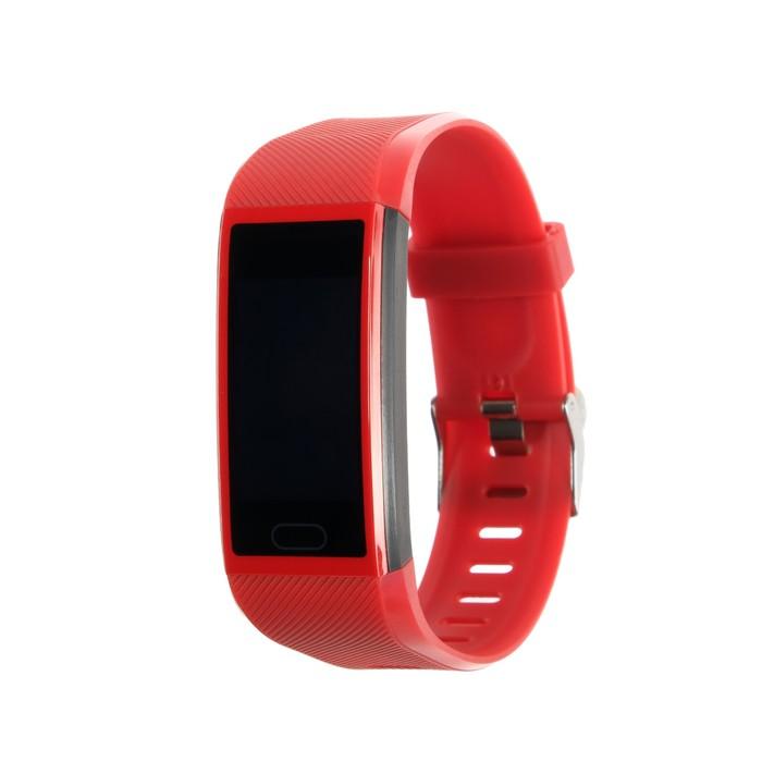"""Фитнес браслет Smarterra FitMaster 5, 1.14"""", IP67, цветной дисплей, пульсометр, красный"""