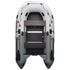 Лодка Муссон 3200 СК Pro слань+киль, цвет бело-серый