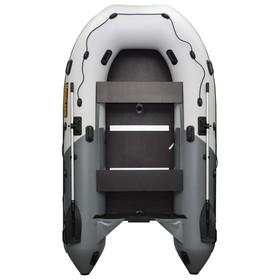Лодка «Муссон 3200 СК Pro» слань+киль, цвет бело-серый