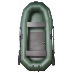Лодка «Муссон» Н-300 РС, реечная слань, цвет олива