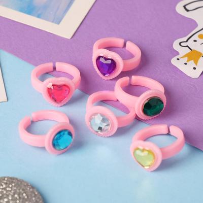 """Ring children's """"Vibracula"""" hearts, color MIX, dimensionless"""