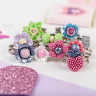 """Ring children's """"Vibracula"""" with flowers, form, MIX, MIX color, dimensionless"""