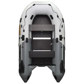 Лодка «Муссон» 3600 СК Pro слань+киль, цвет белый/серый