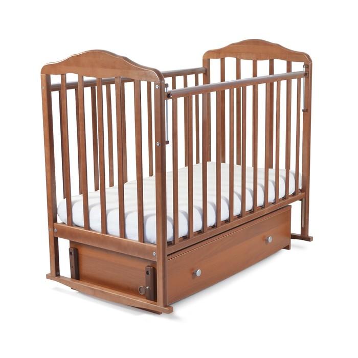 Кровать детская Берёзка с маятником и ящиком - фото 105549575