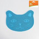 """Коврик для туалета животных """"Киса"""", 40 х 30 см, голубой - фото 139469"""