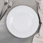 Тарелка обеденная «Сильвер», 27,5×1,5, цвет ободка серебряный - фото 224355