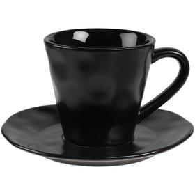Кофейная пара Dark Fluid 200 мл, чёрная